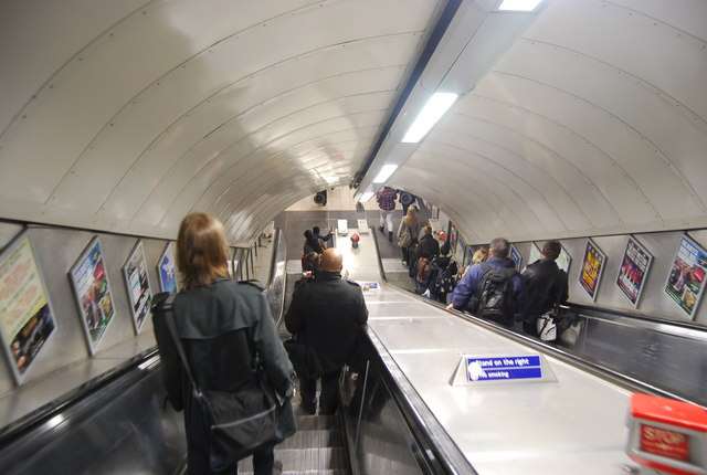 Escalator Euston Underground Station 169 N Chadwick Cc By