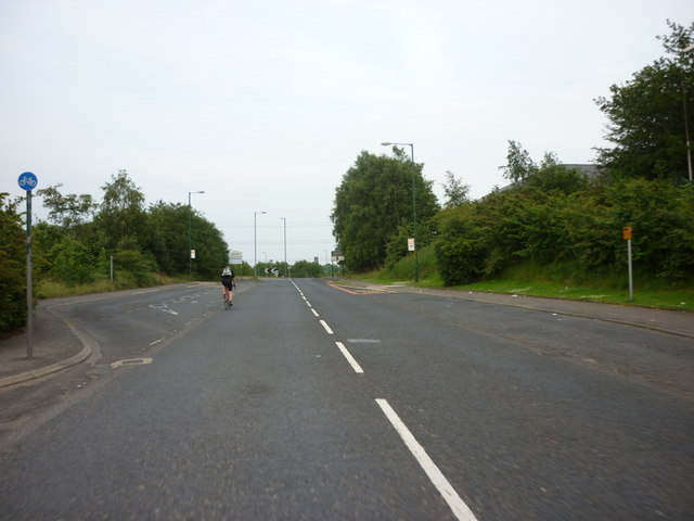 The A57, Mottram Road, looking east