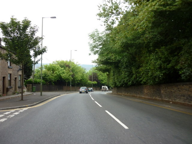 The A57 at Mottram in Longdendale