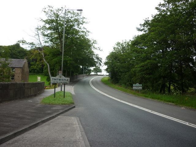 Entering Tintwistle, Derbyshire