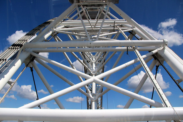 Structure of the London Eye, London SE1