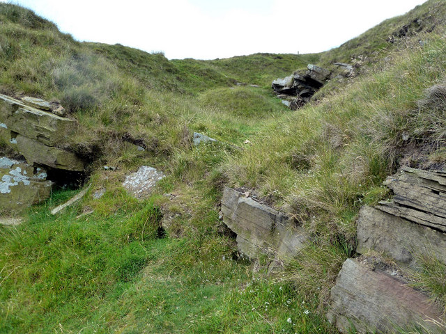 Old quarry workings at Danebower Hollow