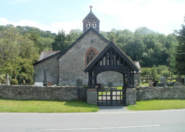 Bells, bell tower and lych gate, Church of St Cwrdaf, Llanwrda
