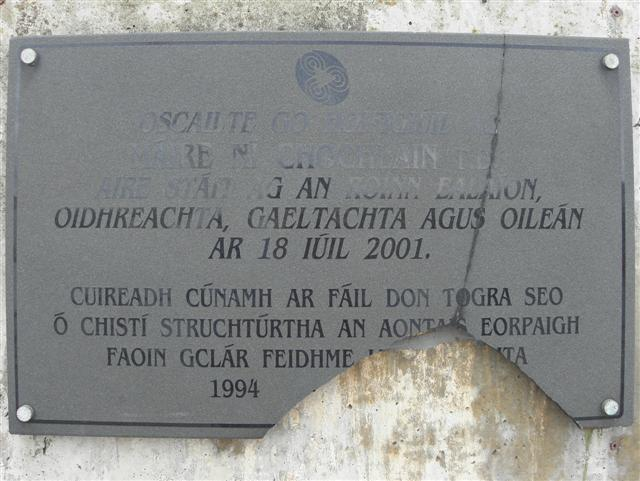 A broken plaque, Tory Island