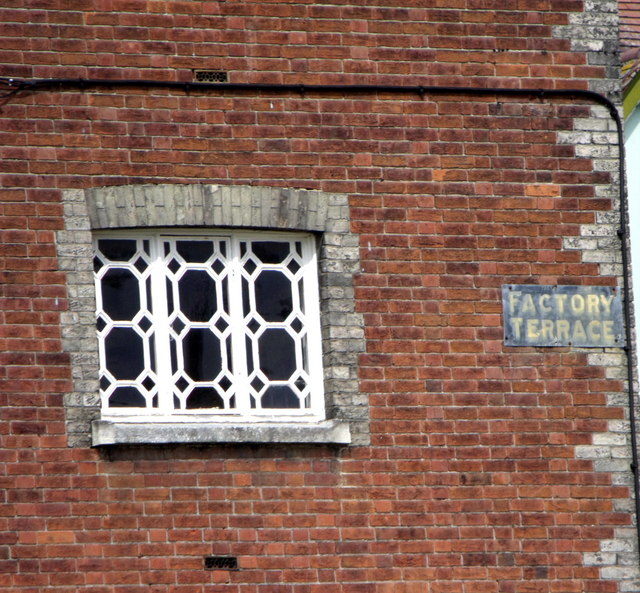 Window in terraced house, Factory Terrace, Halstead