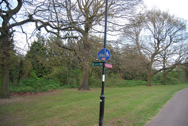 Signpost for footpath and cycleway