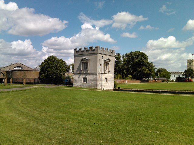Syon House battlement, viewed from Syon Park