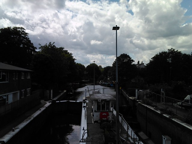 View of Brentford Dock from the Dock Road bridge