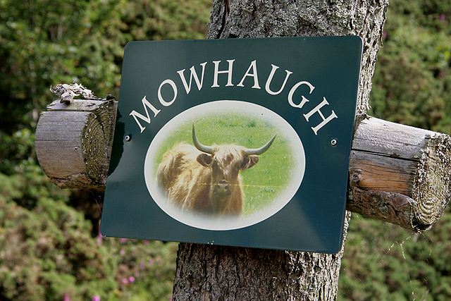 Mowhaugh Farm sign