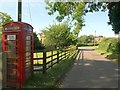 SP2853 : Telephone box, Walton by Derek Harper