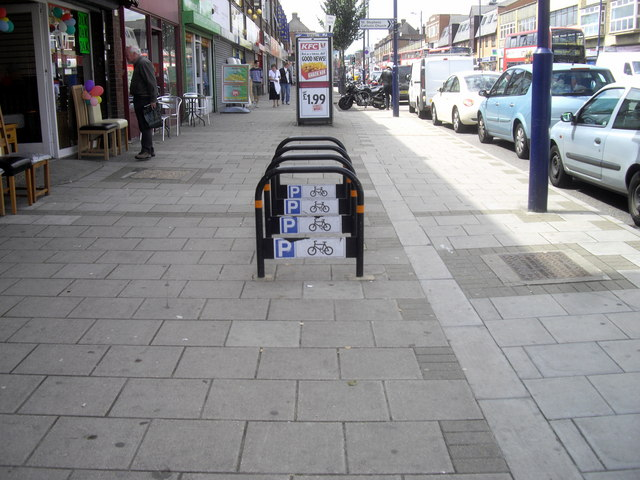 Cycle racks in Bellegrove Road, Welling