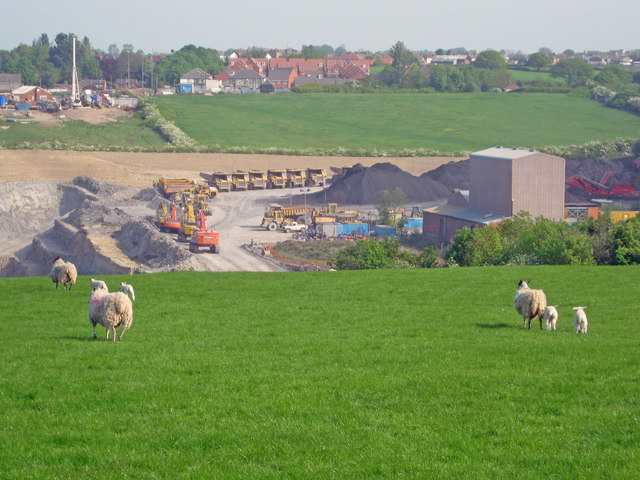 Opencast coal mine at Blackwell