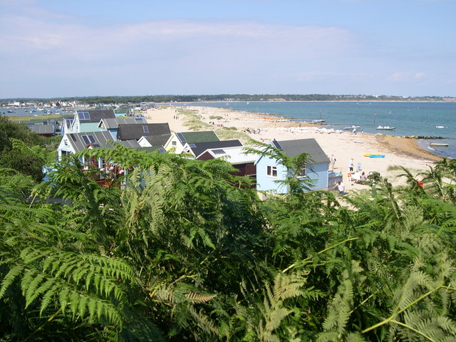Looking down the spit towards Mudeford