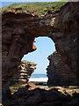 NT7673 : Coastal East Lothian : Through The  Archway near Thorntonloch : Week 27