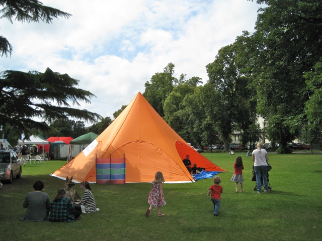 Orange tent, Pump Room Gardens