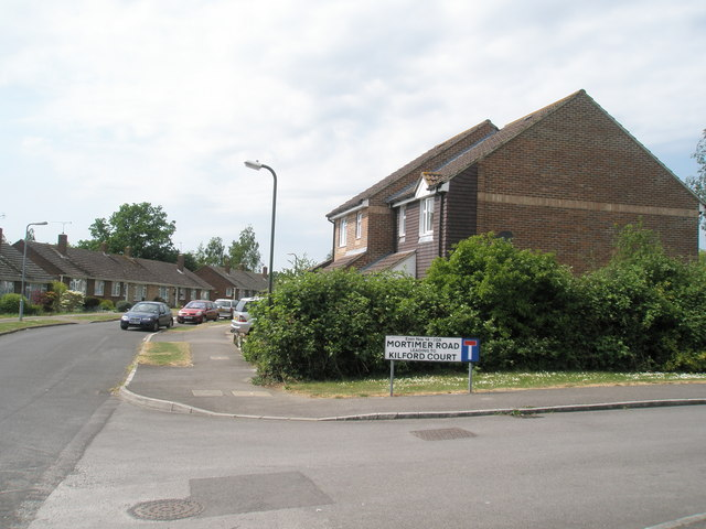 Junction of Mortimer Road and Kirdford Court