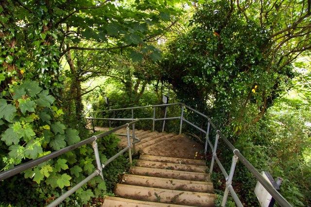 Steps to Crinnis Beach