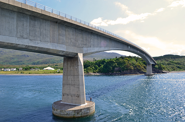 The Skye Bridge from the Eilean Bàn lighthouse