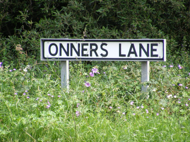 Onner's Lane sign