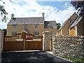 SP0701 : Newbuild on the edge of Ampney Crucis village by Jeremy Bolwell