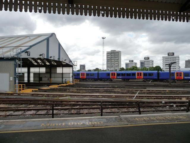 Sidings and train shed, Clapham Junction