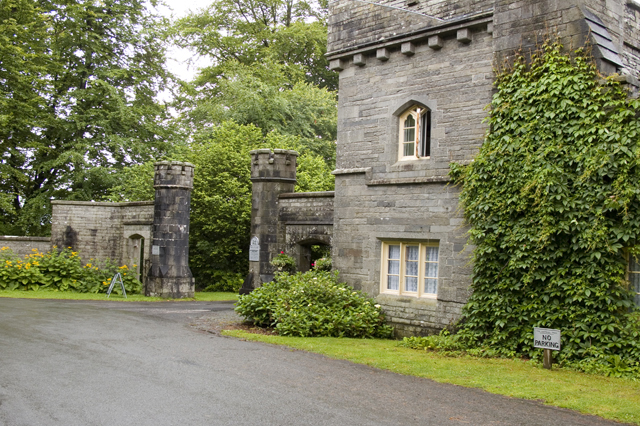 Entrance and gatehouse Wray Castle
