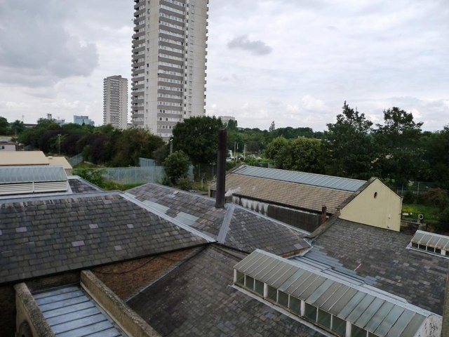 The roofs of Kew Bridge Steam Museum