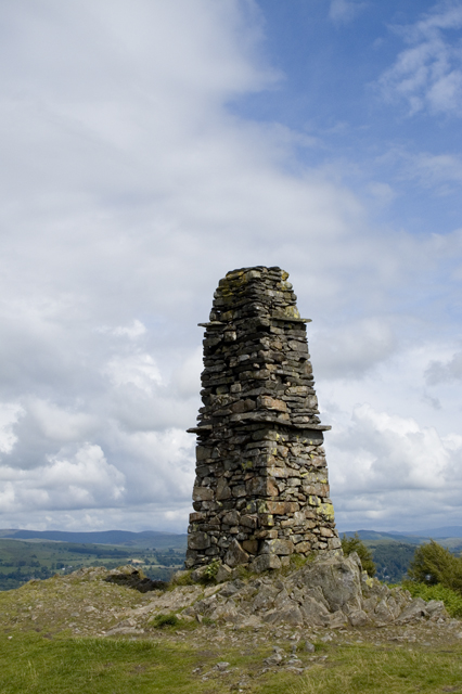 Monument on summit of Latterbarrow