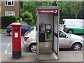 TQ3261 : Riddlesdown: postbox &#8470; CR8 337 and phone, Lower Barn Road by Chris Downer