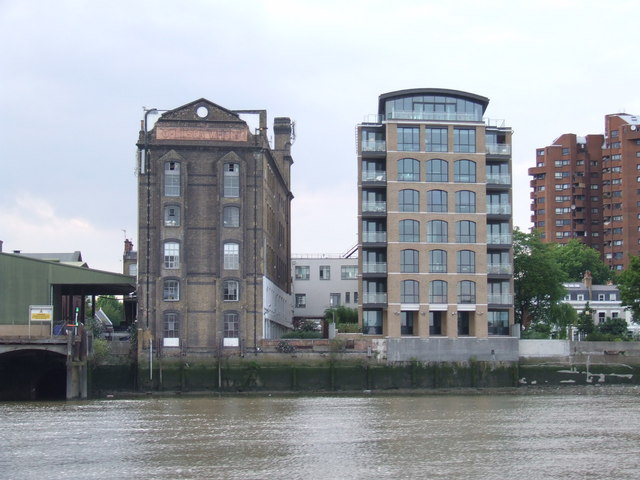 Chelsea Wharf, old and new