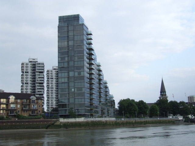 Flats on the river at Battersea