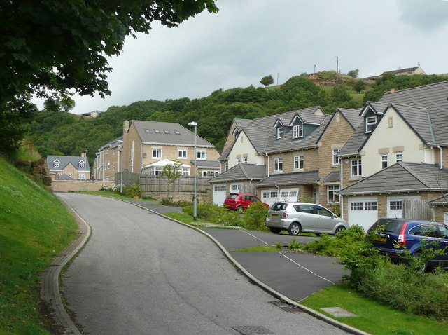 New houses at Ramsden Wood Road, Walsden