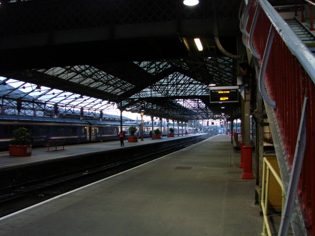 Early morning at Crewe station