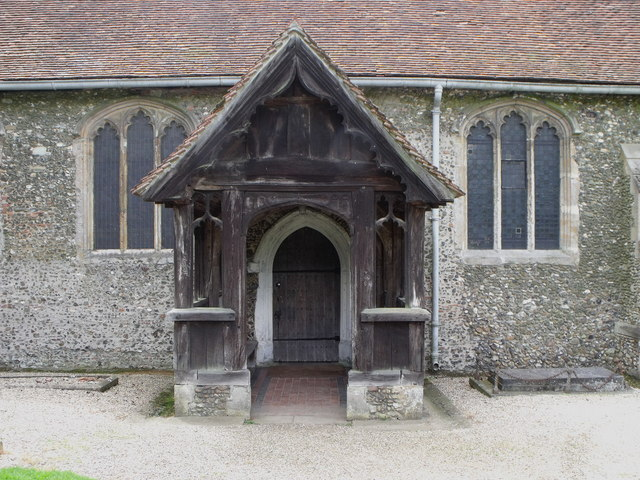 North door and porch, St. Margaret's, Margaretting