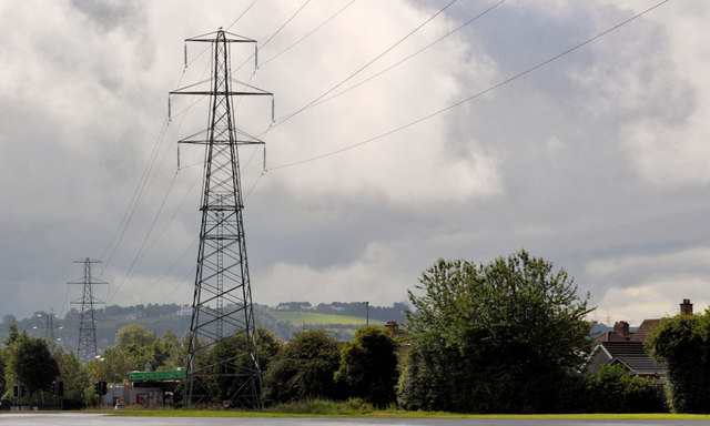 Pylon and power lines, east Belfast (12)