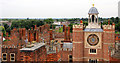 TQ1568 : Clock and Chimneys, Hampton Court Palace, Surrey by Christine Matthews