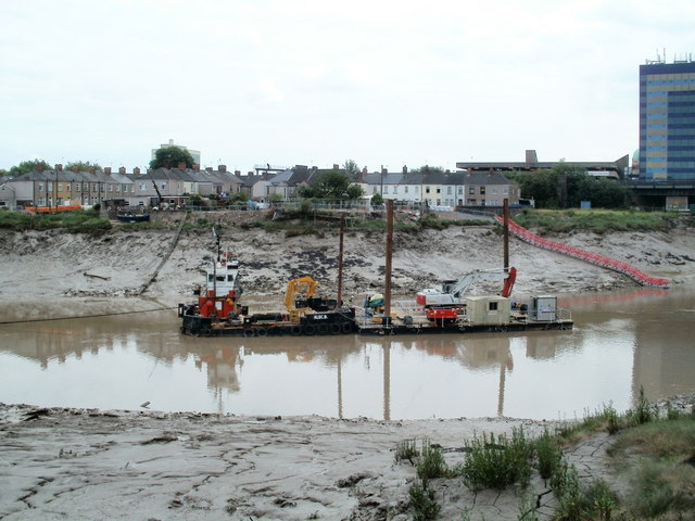 Dredging the River Usk, Newport