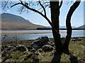 NN3043 : Low water on Loch Tulla by Alan Reid