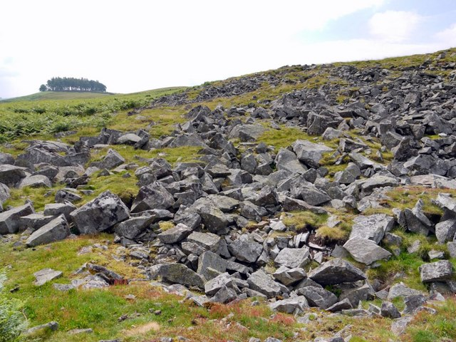Block scree north-west of Kirkcarrion