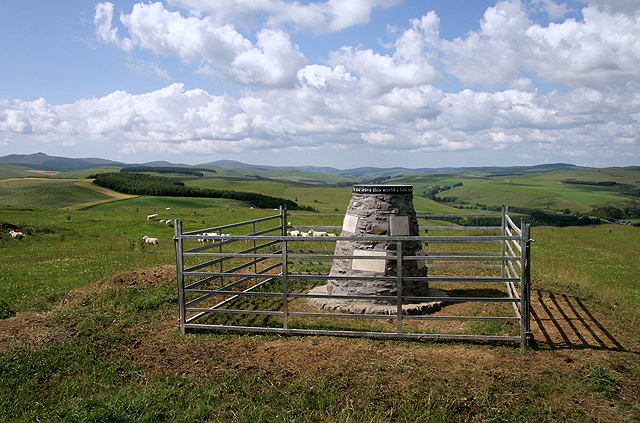 The Nan Lyle memorial cairn on Whitchesters Hill
