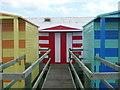 TR1067 : Whitstable: beach hut number 7 has a stripy door : Week 28
