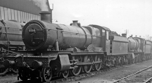 'Grange' 4-6-0s  at Southall Locomotive Depot