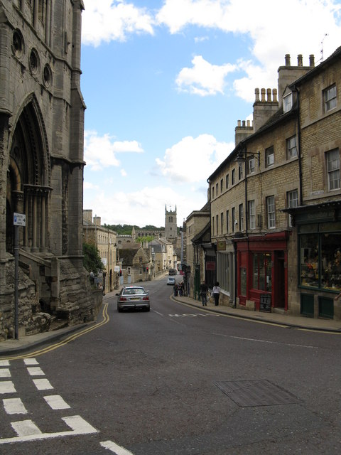 Stamford - former Great North Road from St Mary's Street