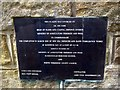 NZ8016 : Runswick Bay commemorative garden plaque by Mike Kirby