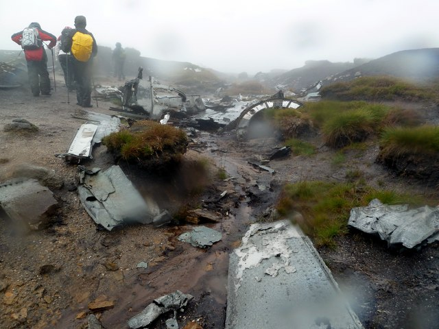 B29 crash site on Shelf Moor