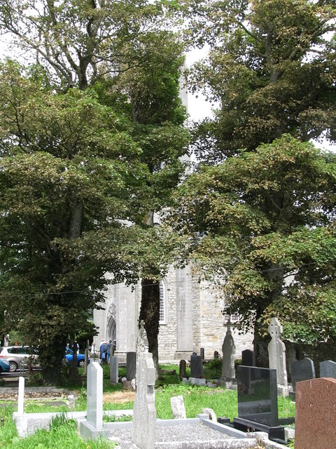 A section of the Protestant graveyard at Drumcliff CoI Church