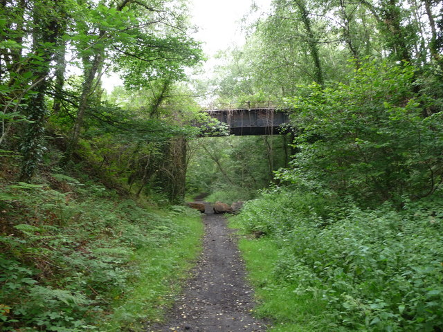 Old bridge across the dismantled railway trackbed