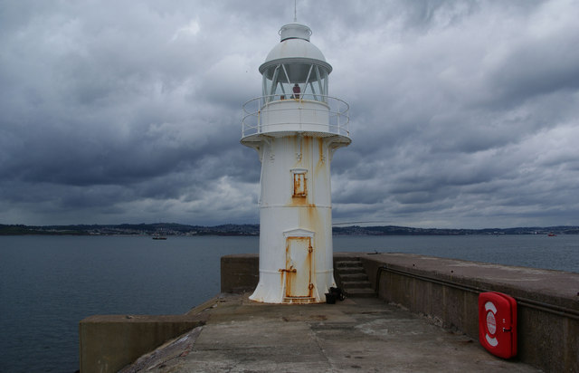 Lighthouse on the Brixham breakwater