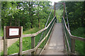 NN1273 : Footbridge over the River Nevis by Stephen McKay
