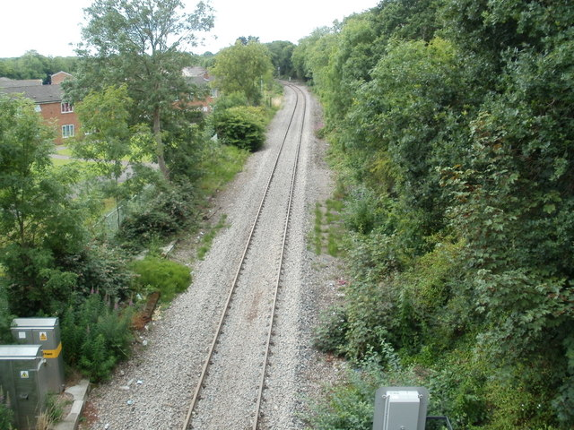 Railway line immediately west of Gaer Tunnel, Newport
